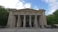 View of the New Guardhouse memorial, Berlin Stock Footage