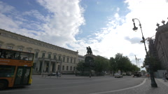 View of Frederick the Great statue, Berlin Stock Footage