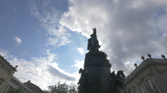 Statue of Frederick the Great, Berlin - stock footage