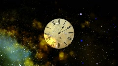 Travel through space and time. Concept of space and time. Concept Alarm flies in - stock footage