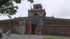 Traffic and gate in Ho Chi Minh City, North Vietnam Stock Footage