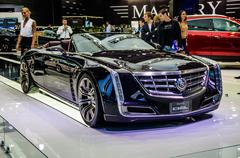 MOSCOW, RUSSIA - AUG 2012: CADILLAC CIEL CONCEPT presented as wo - stock photo