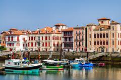 Saint-Jean-de-Luz harbour, France Stock Photos