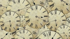 Time lapse with clocks moving fast Stock Footage