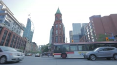 Toronto Churh Front St Intersection Gooderham Buidling Stock Footage