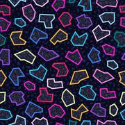 Retro 80s seamless pattern background - stock illustration