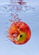 Nectarine in water Stock Photos