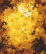 Abstract square brushes in golden spectrum Stock Illustration
