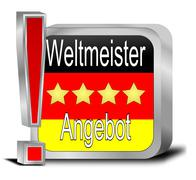 Champion offer Button - in german - stock photo