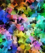Abstract motion background in rainbow colors - stock illustration