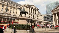 Bank of England, London - stock footage