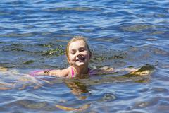 Bathing girl - stock photo