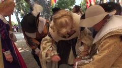 Feast of Tarasque in Provence Stock Footage