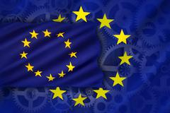 Trade and Industry - European Union - stock illustration
