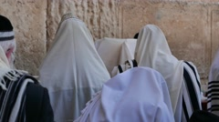 Praying at Western Wall in 4K Stock Footage