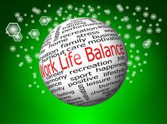 Work Life Balance wordcloud Stock Photos