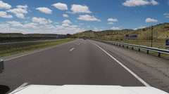 Viewpoint Vehicle Passed By Fire Truck On Interstate Stock Footage