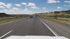 POV Being Passed By Luxury Recreation Vehicle On Freeway Stock Footage