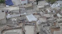 Lamayuru village seen from above,Lamayuru,Ladakh,India Stock Footage