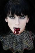Vampire princess - stock photo