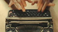 Script writing on an old typewriter on a working day, Ireland Stock Footage