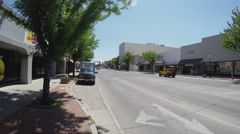 Main Street Business District Shops- Roswell New Mexico Stock Footage
