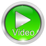 Play Video Button Stock Photos