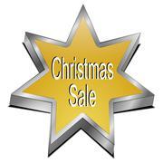 Christmas Sale star button Kuvituskuvat