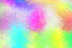 Abstract rainbow coloured mosaic-squared pattern Stock Illustration