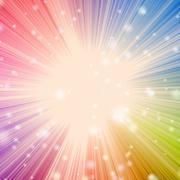 Solar star burst with bokeh effect - stock illustration