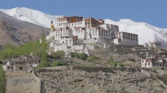 Likir Gompa seen from back side,Likir,Ladakh,India Stock Footage