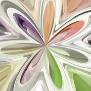Stock Illustration of Abstract colorful bloom shape - illustration