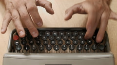 script writing on an old typewriter on a working day, Ireland - stock footage