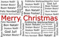 Merry Christmas wordcloud Stock Photos