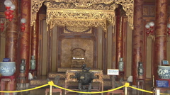 Throne in Ho Chi Minh City, North Vietnam Stock Footage