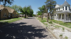 POV Driving Residential Street- Roswell New Mexico Stock Footage