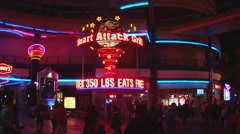 Heart Attack Grill Fremont Street Las Vegas Nevada - stock footage