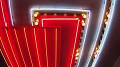 Walking Under Bright Casino Lights On Fremont Street- Las Vegas Stock Footage