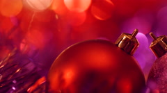 Christmas and New Year Decoration. Abstract Blurred Bokeh Holiday Background. Stock Footage