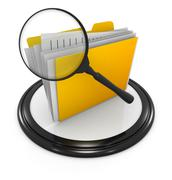 File searching icon - stock illustration