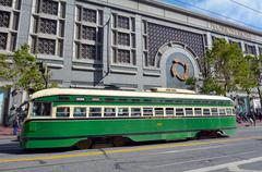 PCC - Presidents Conference Committee streetcar tram in San Francisco  CA - stock photo