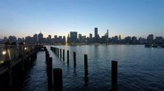 NYC Skyline Lights - stock footage