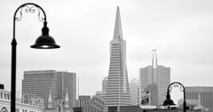 Transamerica Pyramid in San Francisco - California USA Stock Photos