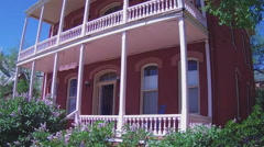 Historic Old West House With Wooden Porches- Silver City NM Stock Footage