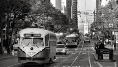 One of San Francisco's original double-ended PCC streetcars, on Stock Photos