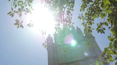 Mormon temple and tree tight shot - stock footage
