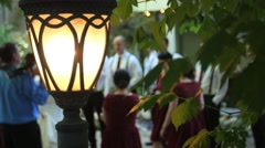 Lamp and wedding - stock footage