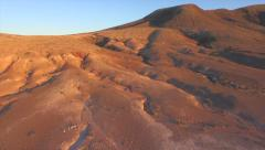 AERIAL: Flying up the old volcano in vulcanic island Stock Footage