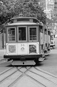 San Francisco cable car system  - California USA - stock photo