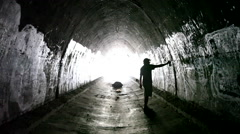 Graffiti Tunnel Stock Footage